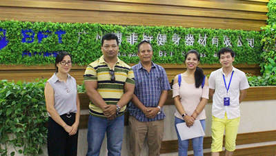 Nepal Customers Come To China To Find Fitnes Equipment Manufacture