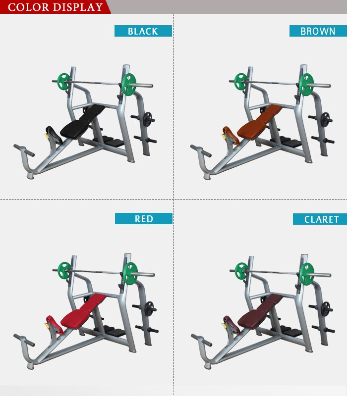 Commercial dumbbell weight bench