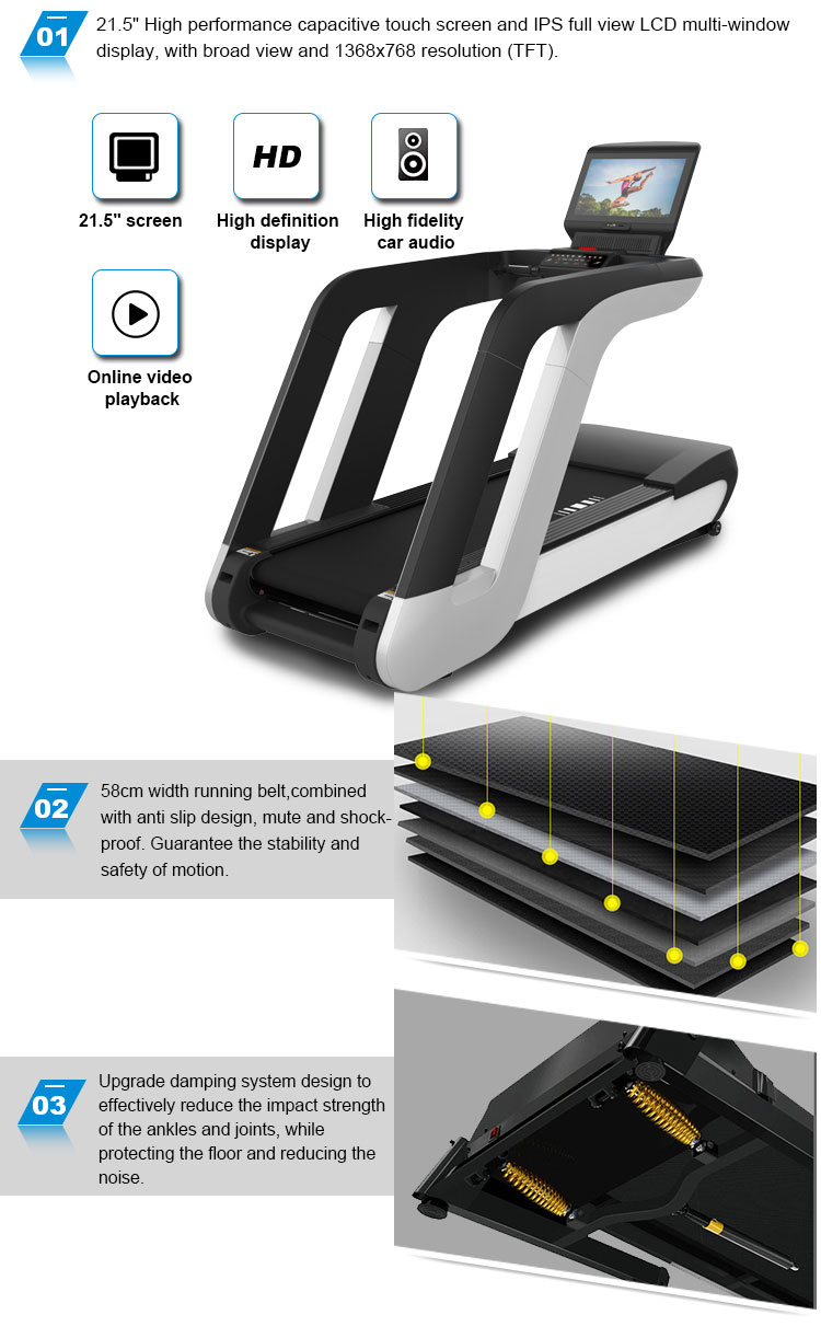 treadmill for commercial gym