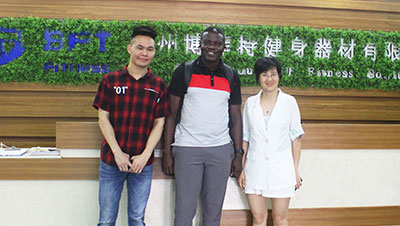 Ghana Customer come to China to Buy BFT Gym Equipment Again