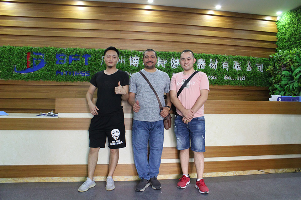 Egyptian Customers Come To China To Purchase BFT Brand Fitness Equipment